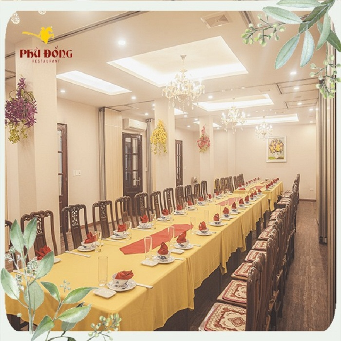 Nhà hàng Phù Đổng Thái Hà nổi tiếng với những món ăn ngon hấp dẫn
